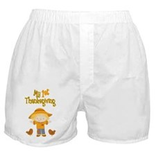 Scarecrow My First Thanksgiving Boxer Shorts