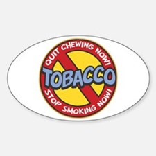 No Tobacco Oval Decal