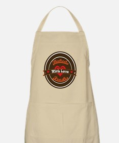 Vintage Baked Fresh With Love Brown Orange R Apron