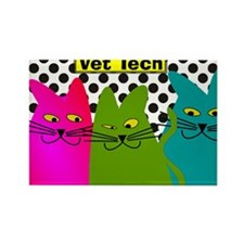 Vet TEch 3 CATS Whimiscal Rectangle Magnet