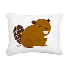 canadian beaver Rectangular Canvas Pillow