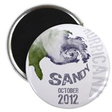 Hurricane Sandy Cloud white Magnet