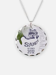 Hurricane Sandy Cloud white Necklace