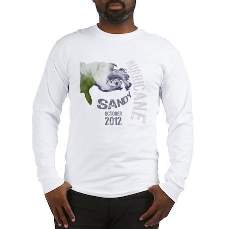 Hurricane Sandy Cloud white Long Sleeve T-Shirt