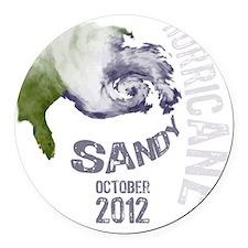 Hurricane Sandy Cloud white Round Car Magnet