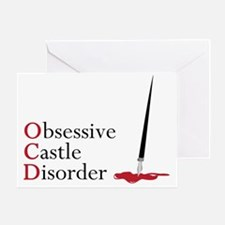 Obsessive Castle Disorder Greeting Card