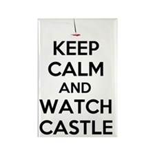 Keep Calm and Watch Castle Rectangle Magnet