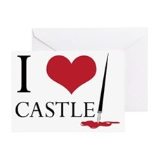 I Heart Castle Greeting Card