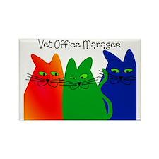 vet office manager Rectangle Magnet