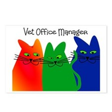vet office manager Postcards (Package of 8)