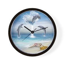thotd_shower_curtain Wall Clock
