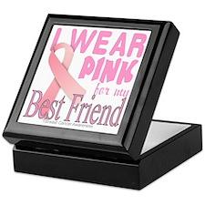 I Wear Pink for my Best Friend Breast Keepsake Box