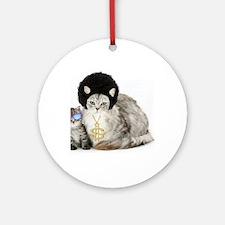 Ghetto kitty Round Ornament