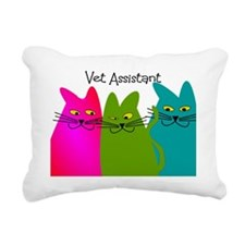Vet Assistant whim cats Rectangular Canvas Pillow