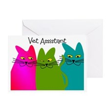 Vet Assistant whim cats Greeting Card
