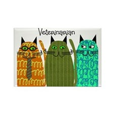 Veterinarian whimsical Rectangle Magnet