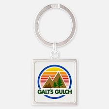 Galts Gulch Square Keychain