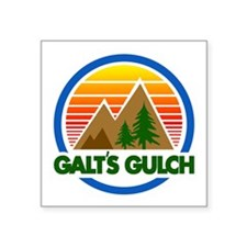 "Galts Gulch Square Sticker 3"" x 3"""