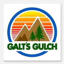 "Galts Gulch Square Car Magnet 3"" x 3"""