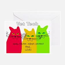 Vet Tech 1 bag Greeting Card