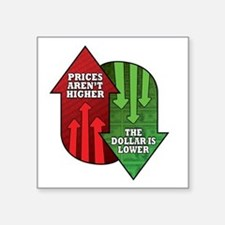 """Prices Arent Higher, The Do Square Sticker 3"""" x 3"""""""