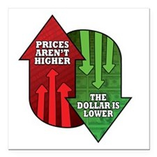 """Prices Arent Higher, The Square Car Magnet 3"""" x 3"""""""