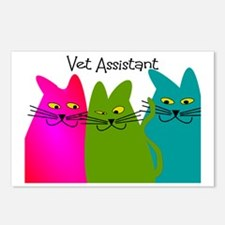 Vet Assistant whim cats Postcards (Package of 8)