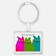 Vet Assistant whim cats Landscape Keychain