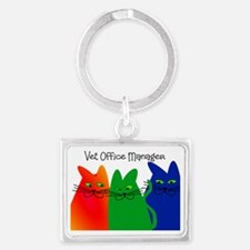 vet office manager Landscape Keychain