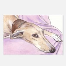 Lurcher on sofa Postcards (Package of 8)
