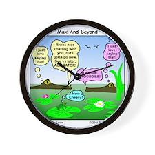 Alligator and Crocodile Cartoon Wall Clock