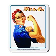 Fit to Go with Rose the Riveter Mousepad