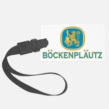 Bockenplautz Blue Logo Luggage Tag