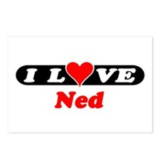 I Love Ned Postcards (Package of 8)