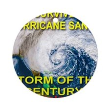 I Survived Hurricane Sandy Storm of Round Ornament