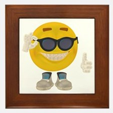 Holiday Smiley Framed Tile