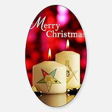 Eastern Star - Masonic Christmas Ca Sticker (Oval)