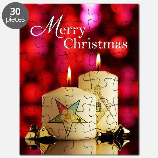 Eastern Star - Masonic Christmas Card Puzzle