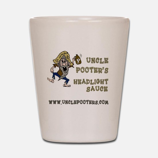 Uncle Pooter's Headlight Sauce Shot Glass