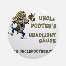 Uncle Pooter's Headlight Sauce Round Ornament