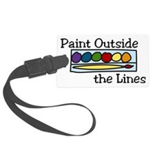 Paint Outside The Lines Luggage Tag