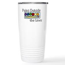Paint Outside The Lines Travel Mug