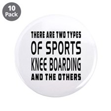 "Knee Boarding Designs 3.5"" Button (10 pack)"