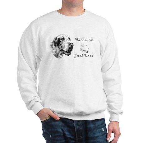 Happiness is a Deaf Dane Sweatshirt