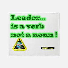 Leader Is A Verb Throw Blanket