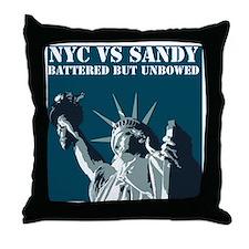 Hurricane Sandy Vs New York City Throw Pillow