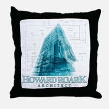 Howard Roark Architect Throw Pillow