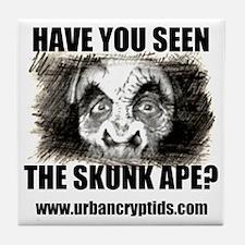 Skunk Ape Logo Tile Coaster