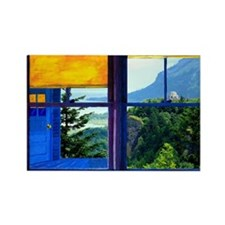 Window on the Gorge - Rectangle Magnet