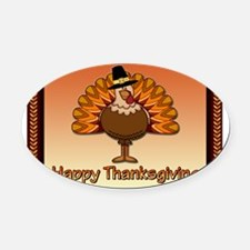 Happy Thanksgiving Oval Car Magnet